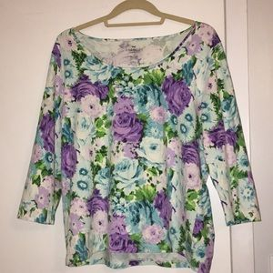 Tops - Talbots floral top